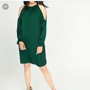EUC Old Navy Green Cold Shoulder Dress-L